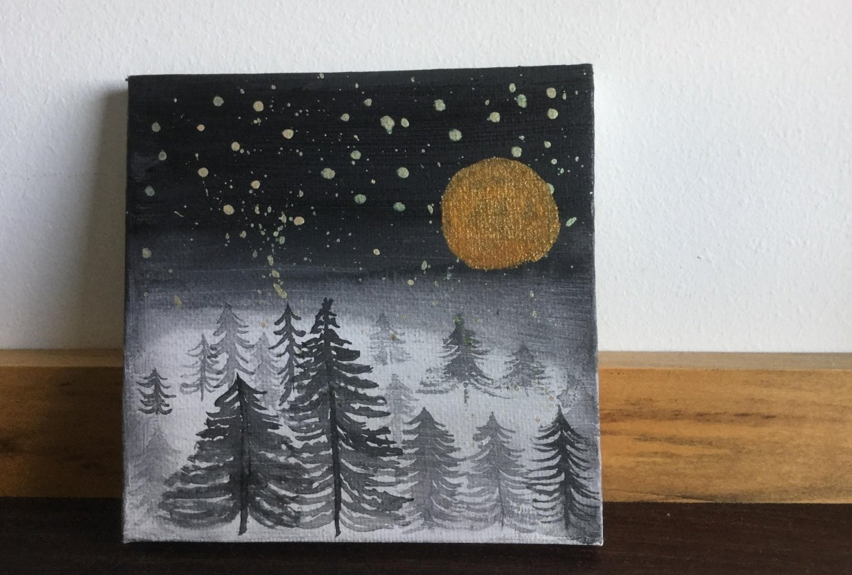 Stars, Moon, and Sky - student project