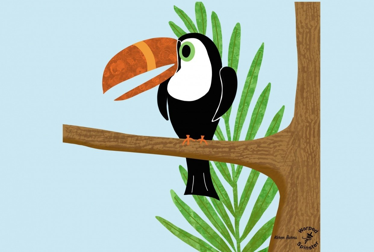 Sid, the textured toucan - student project