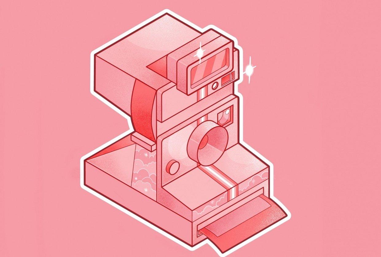 Pink Polaroid - student project