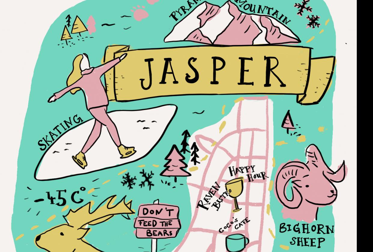 Winter in Jasper, Alberta - student project