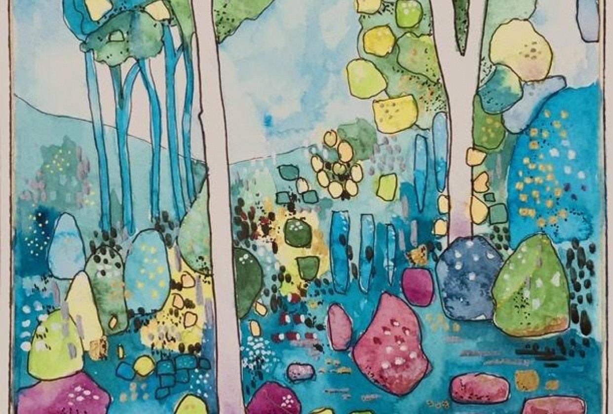 MeOwnDesigns watercolour mixed media interpretation - student project
