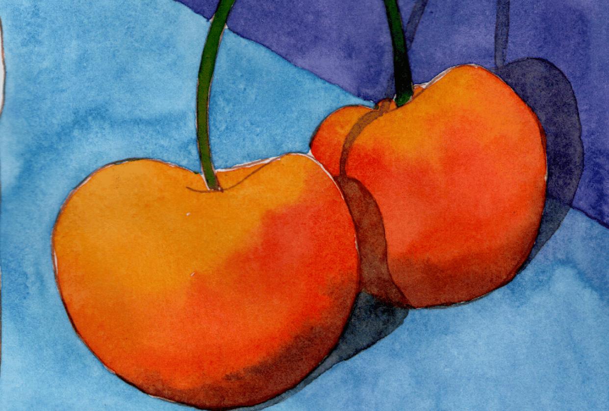 Yellow cherries - student project