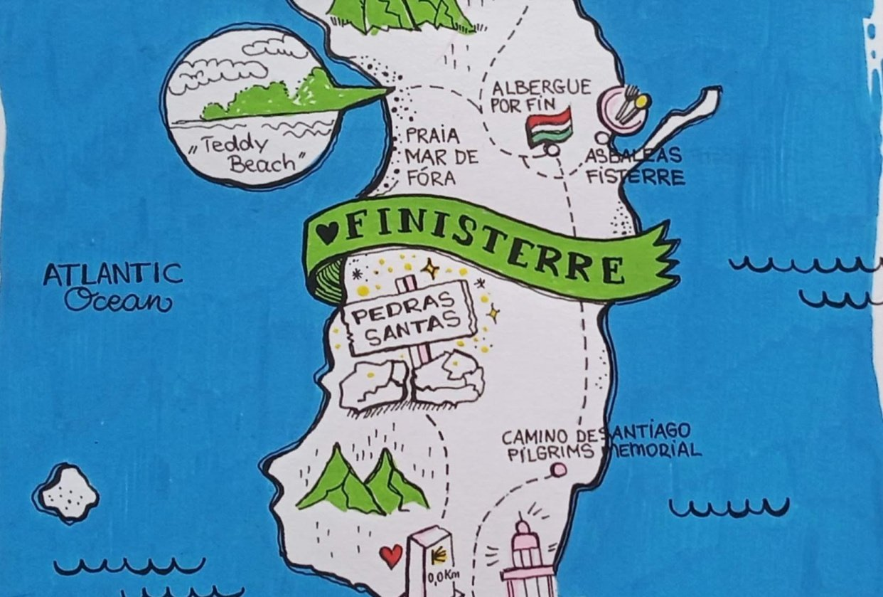 Map of Finisterre (Spain) - student project