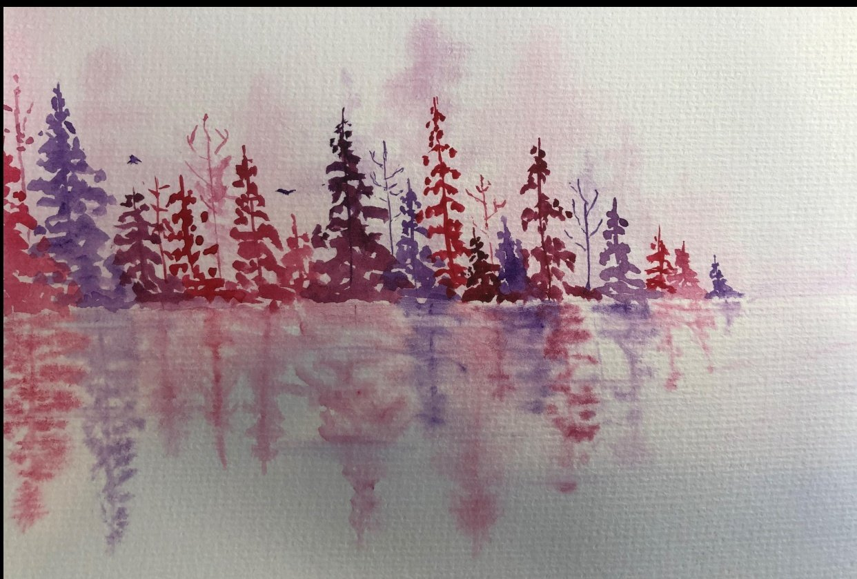 Pretty pinks and purples - student project