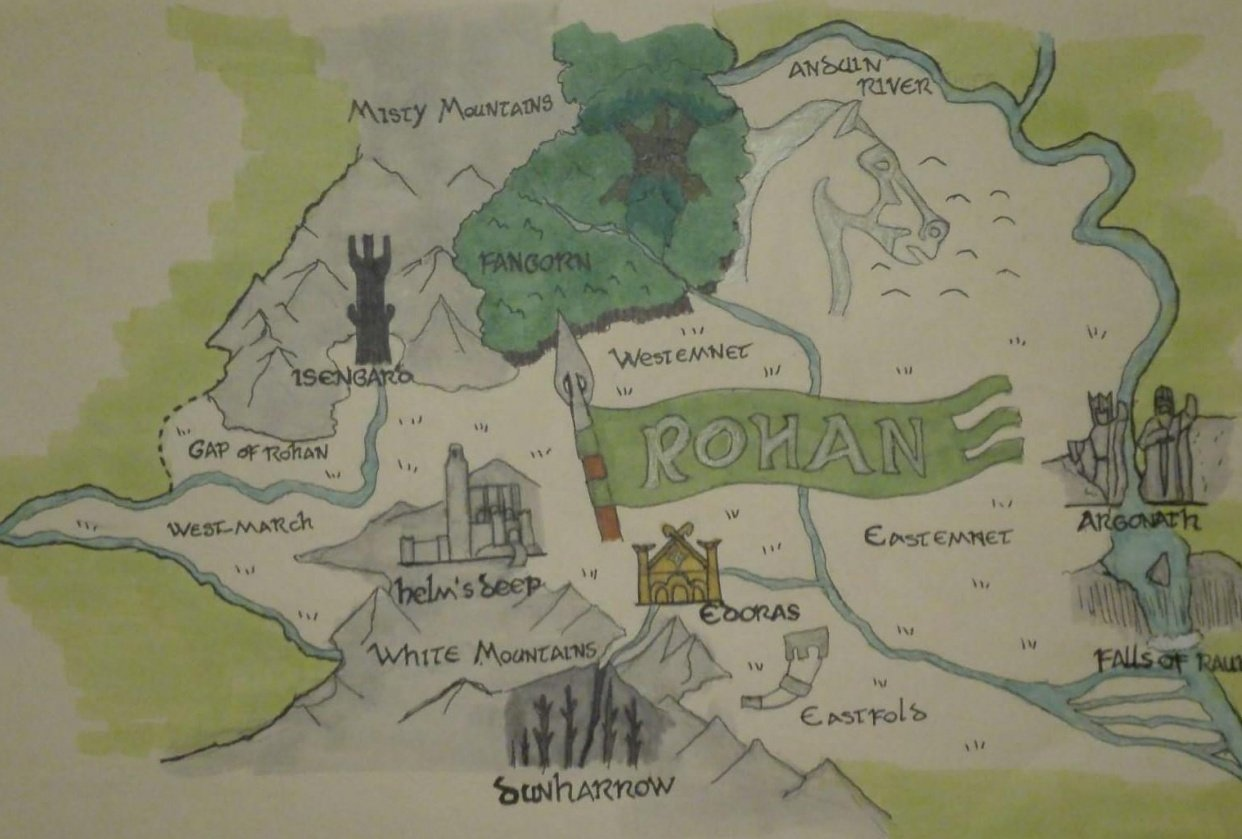 Rohan Map - student project