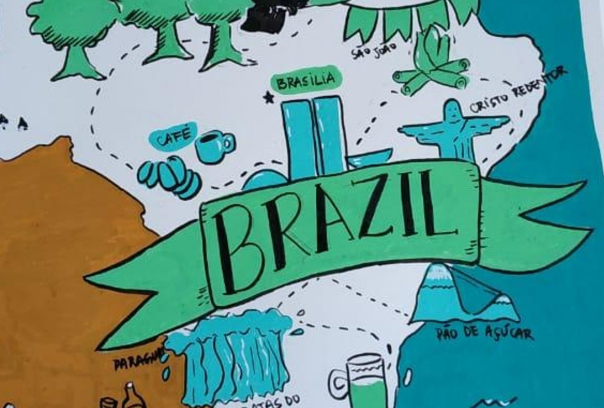 Brazil map - student project