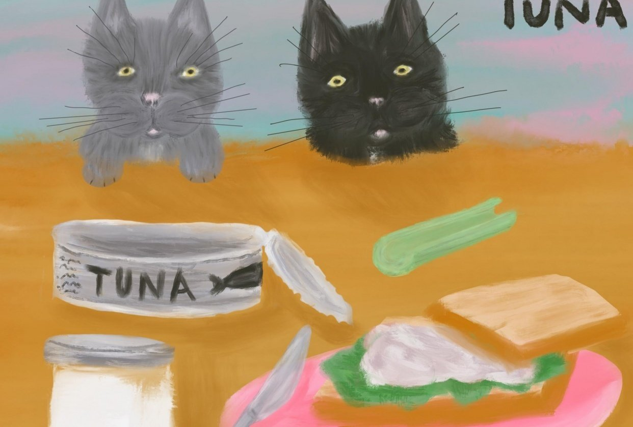 monkey and gibbs love tuna - student project