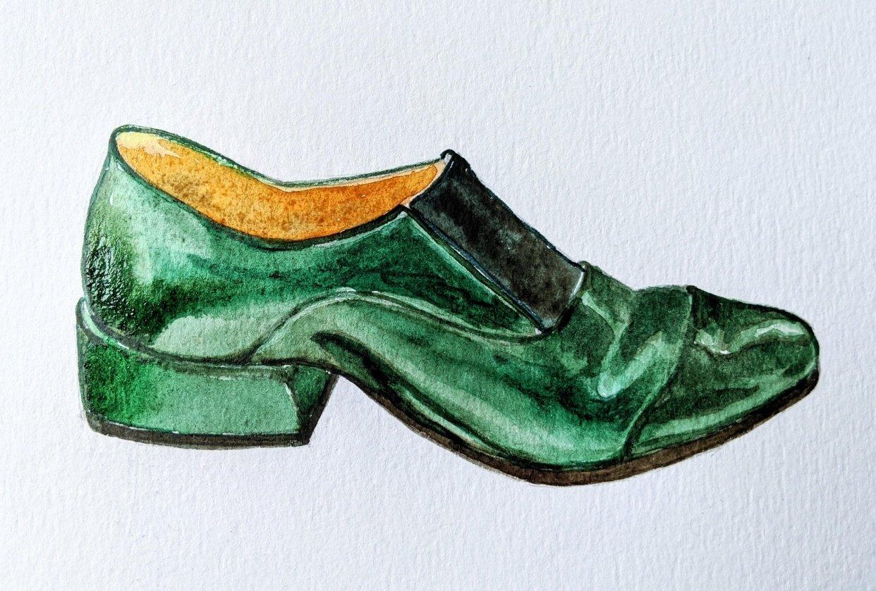 Bottle Green Shoe - student project