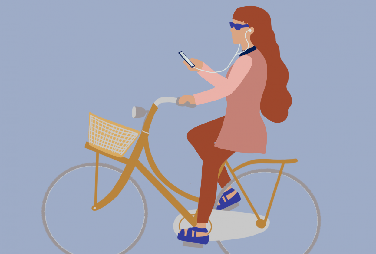 Phoning while Biking.. - student project