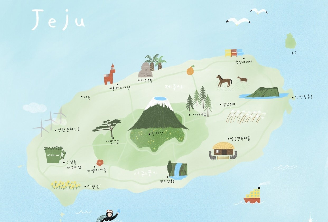 illustrated map by Dewy - student project
