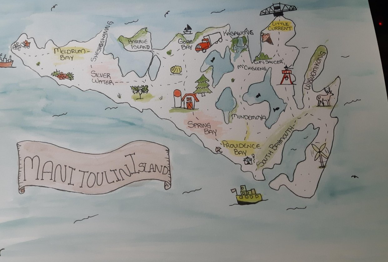 Manitoulin Island Map - student project