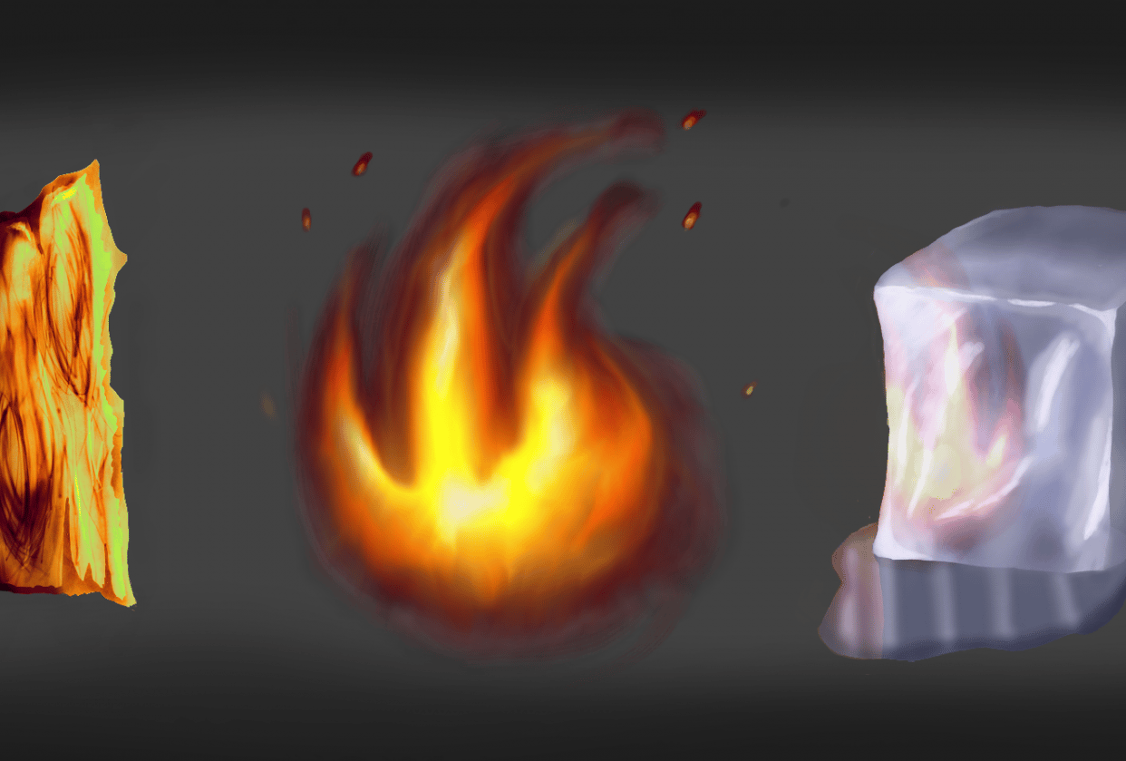 Wood Fire Ice - student project