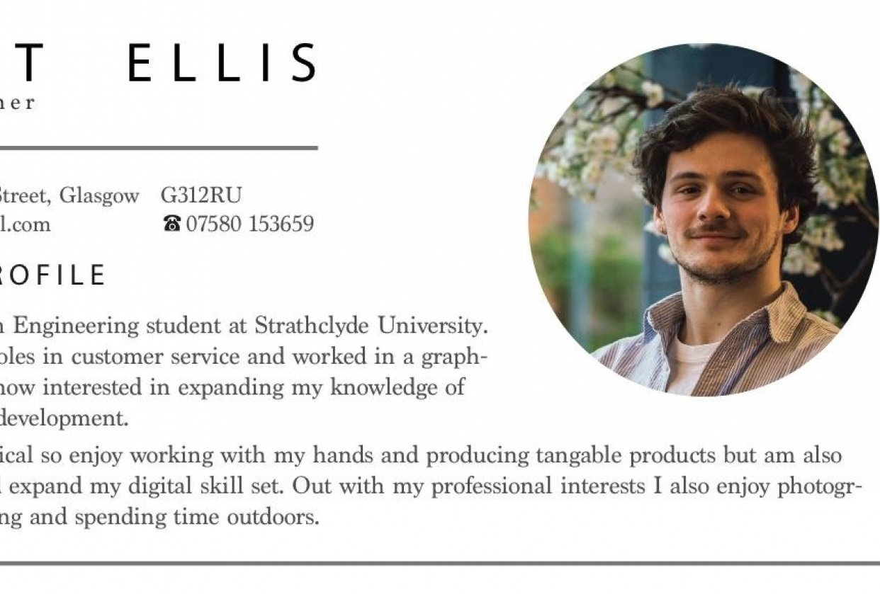 Personal CV - student project