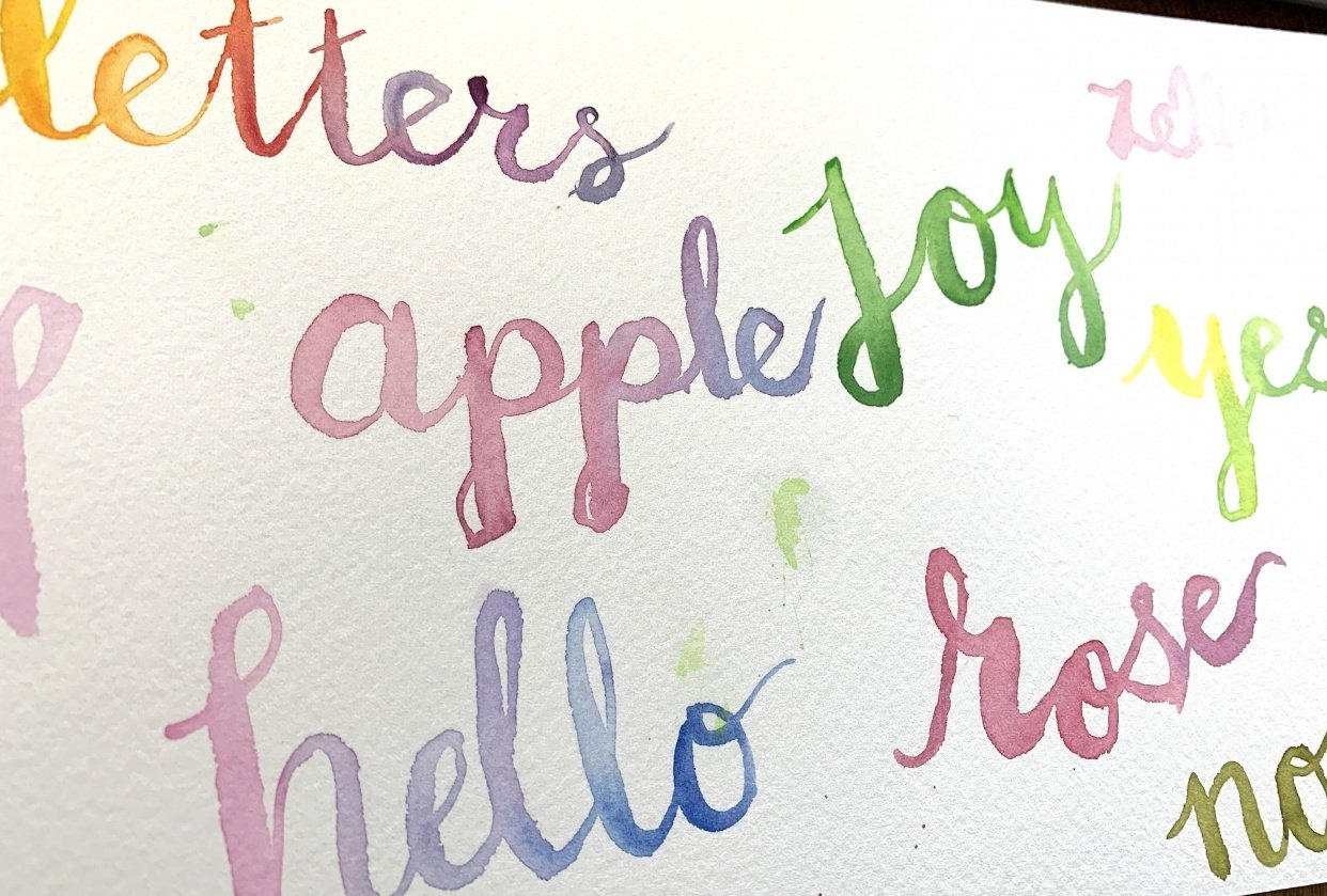 Watercolor Lettering - student project