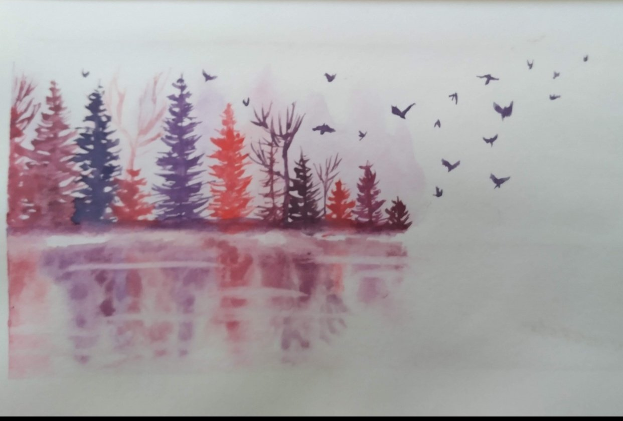 Dreary Lake Reflection - student project