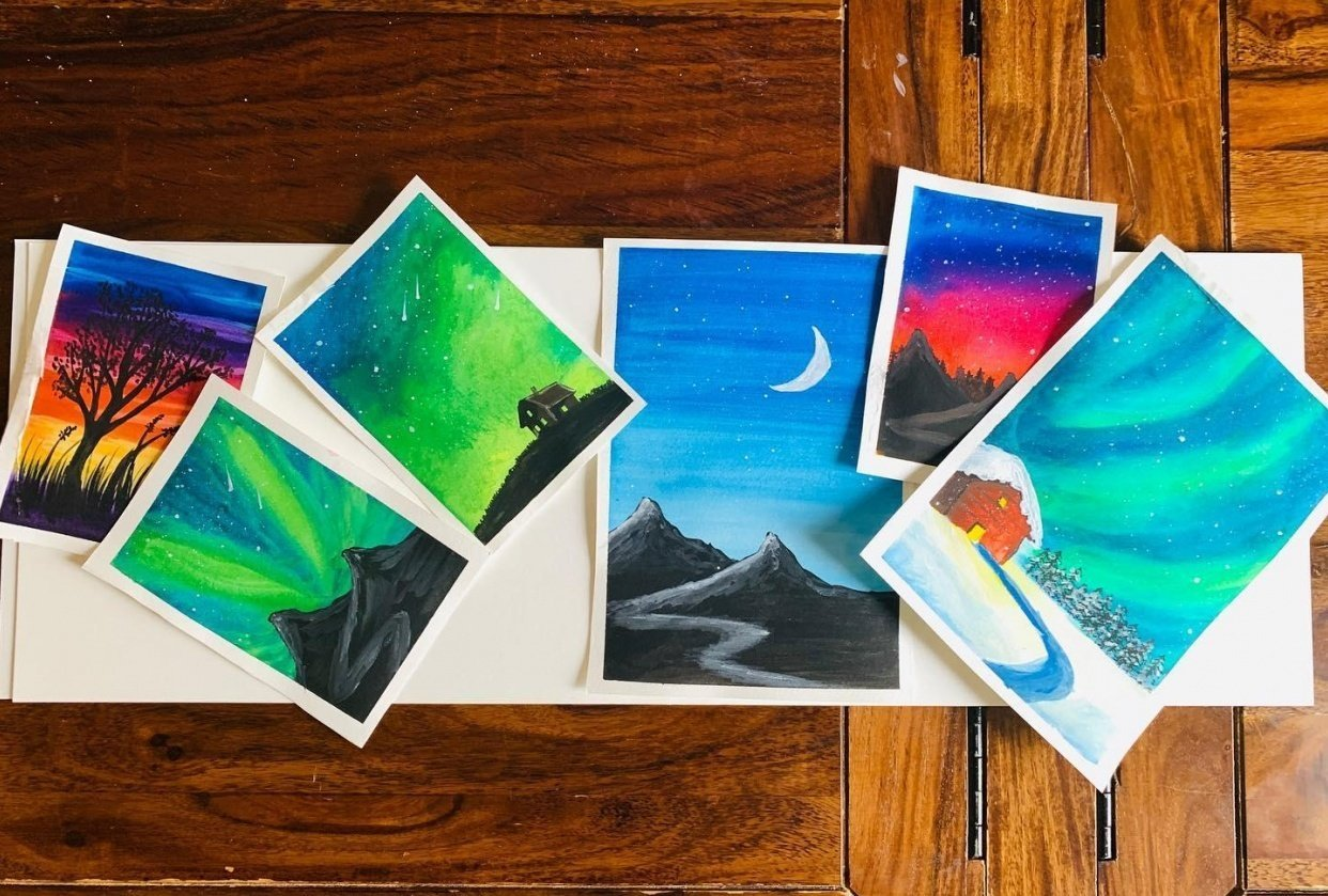 Night Sky Painting - student project