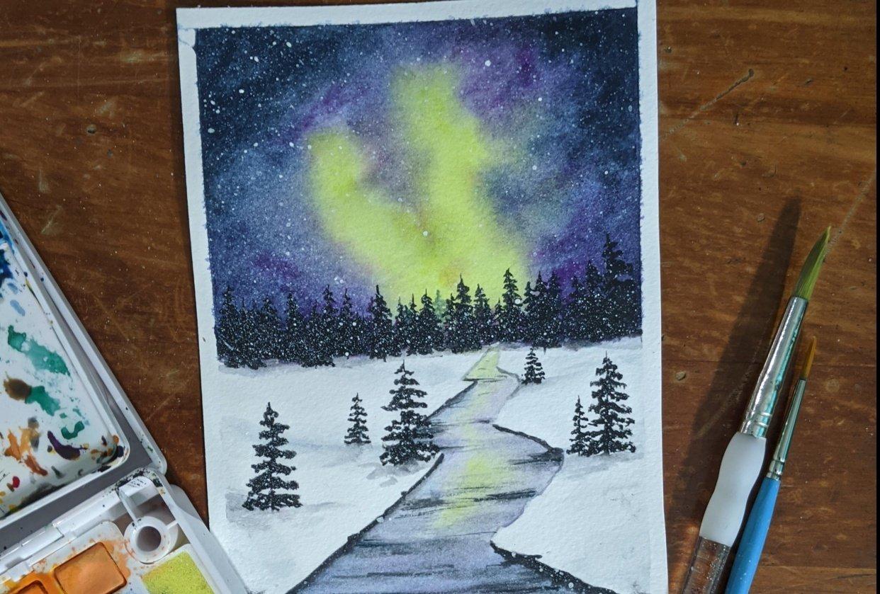 Winter Landscape - Snowy River - student project