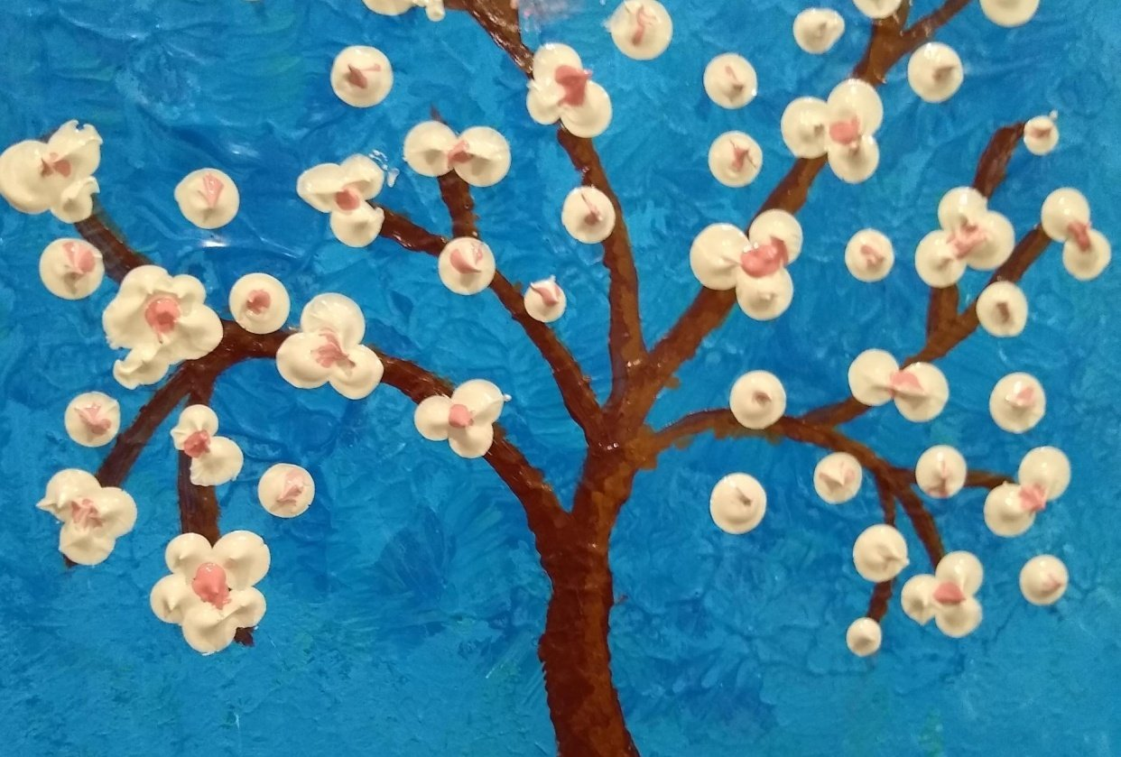 apple blossoms - student project