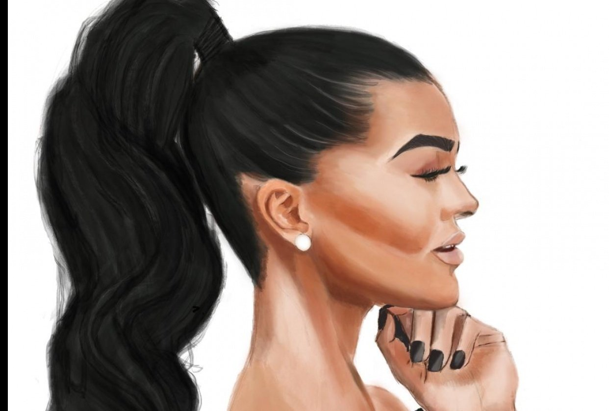 watercolor portrait - student project