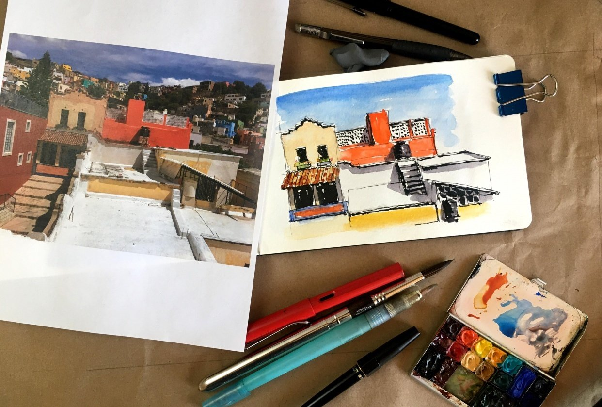 Travel Sketching Project - student project
