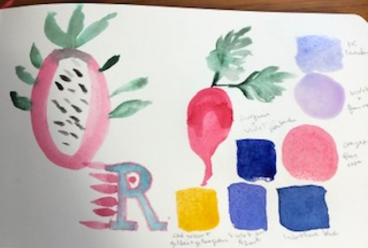 veggies, an R and the colors - student project