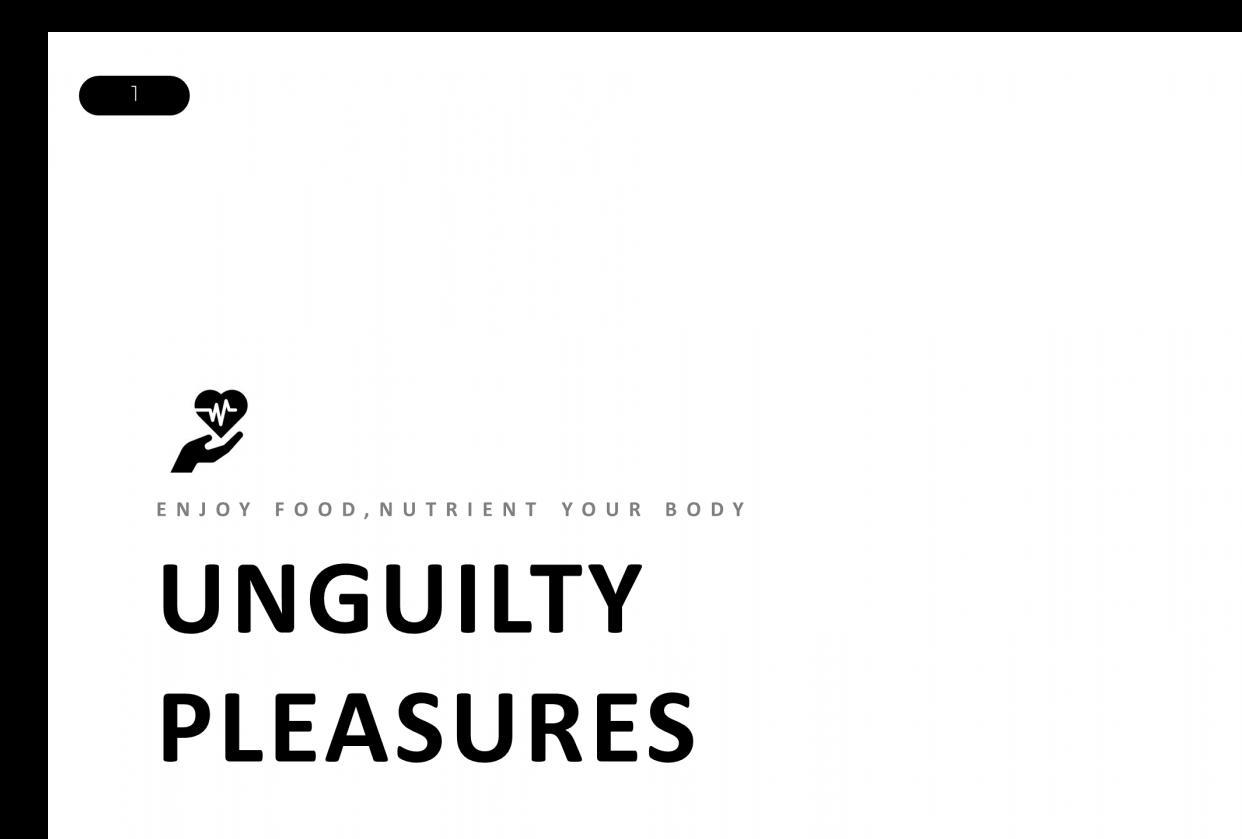 Unguilty Pleasure - Healthy Food Restaurant - student project