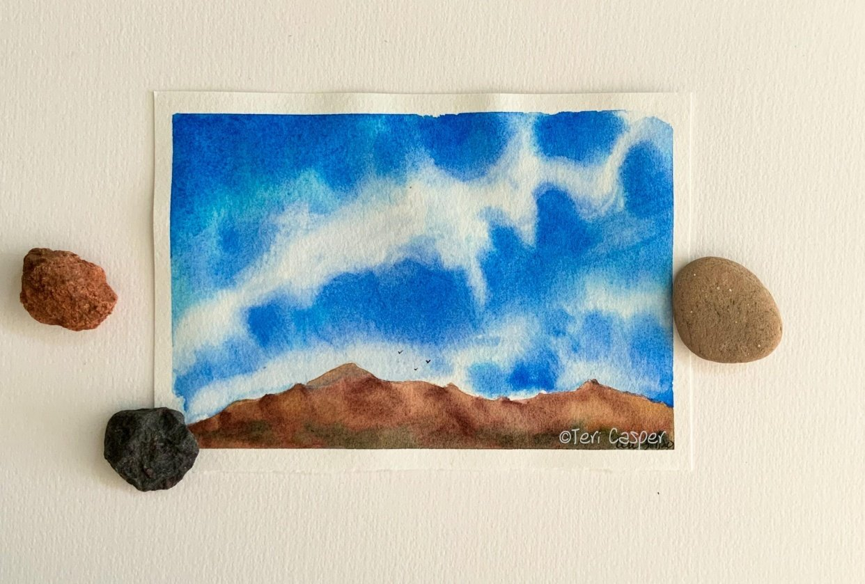 Sky over the Catalina mountains - student project