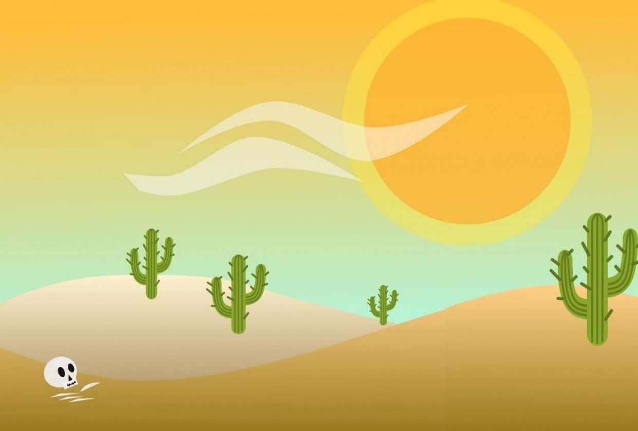 Animated Desert Scene (SVG) - student project