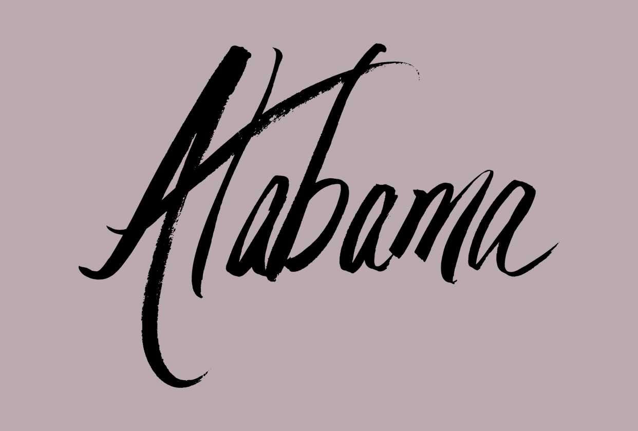 Alabama lettering - student project
