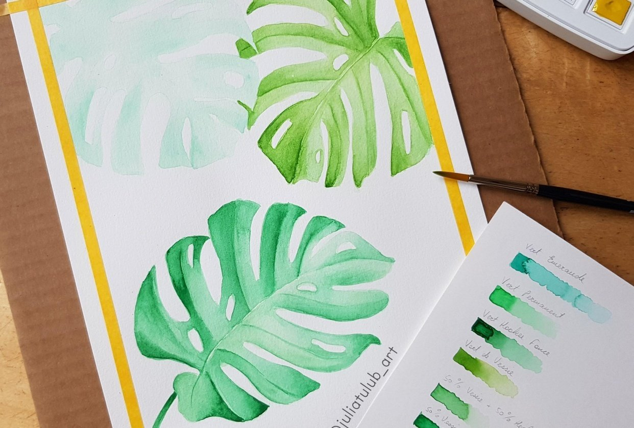 Monstera Leaves - student project