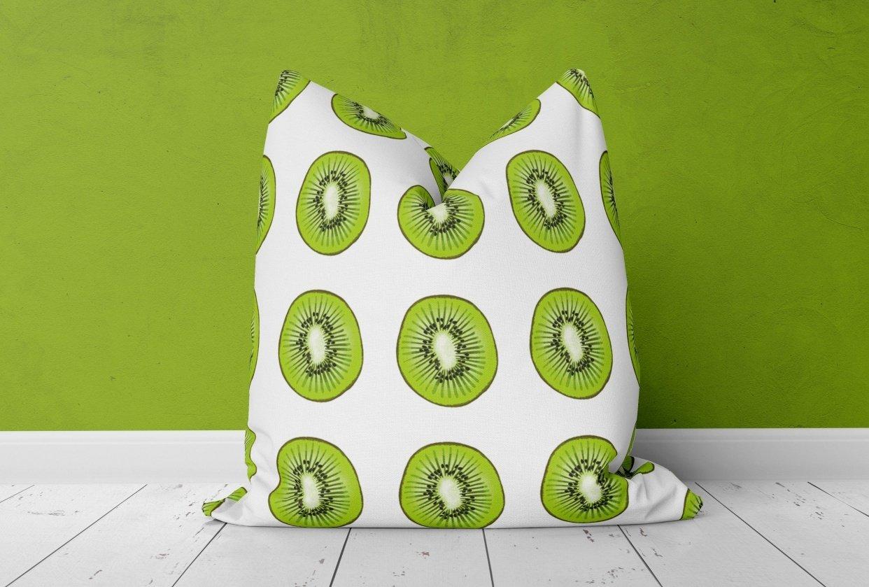 Kiwi Throw Pillow - student project