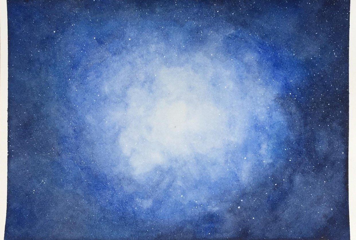 Blue galaxy nebula - student project