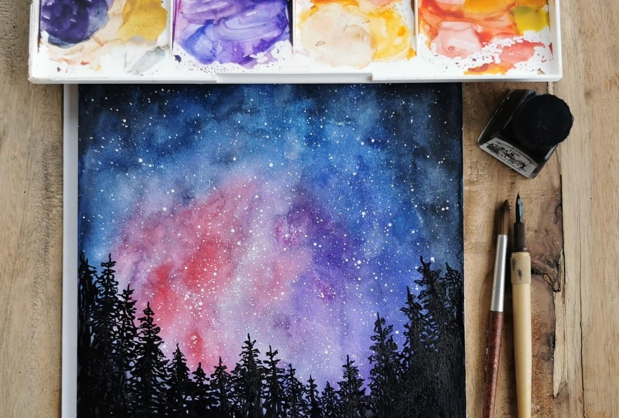 Galaxy Forest - student project