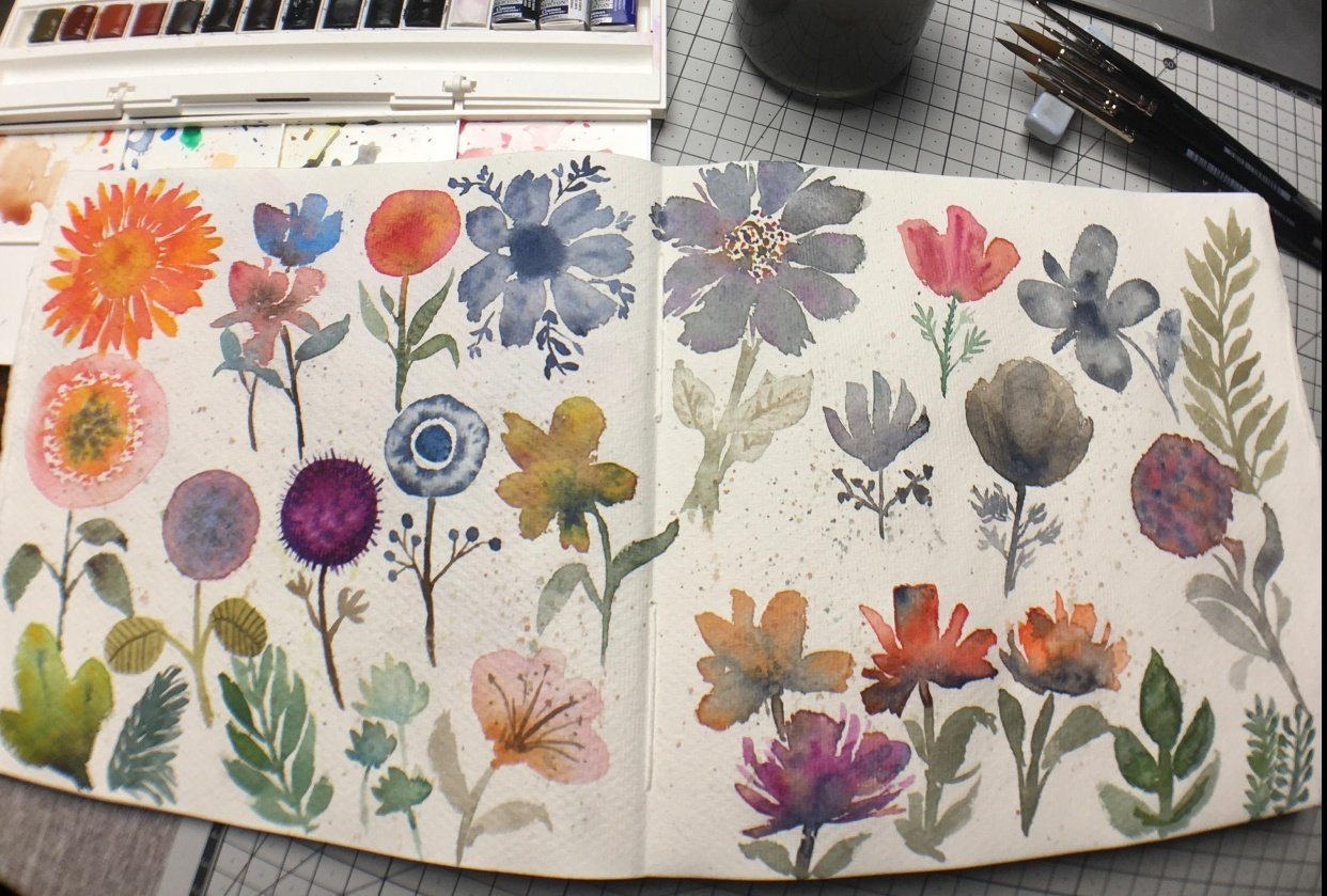 Modern Loose Florals - student project