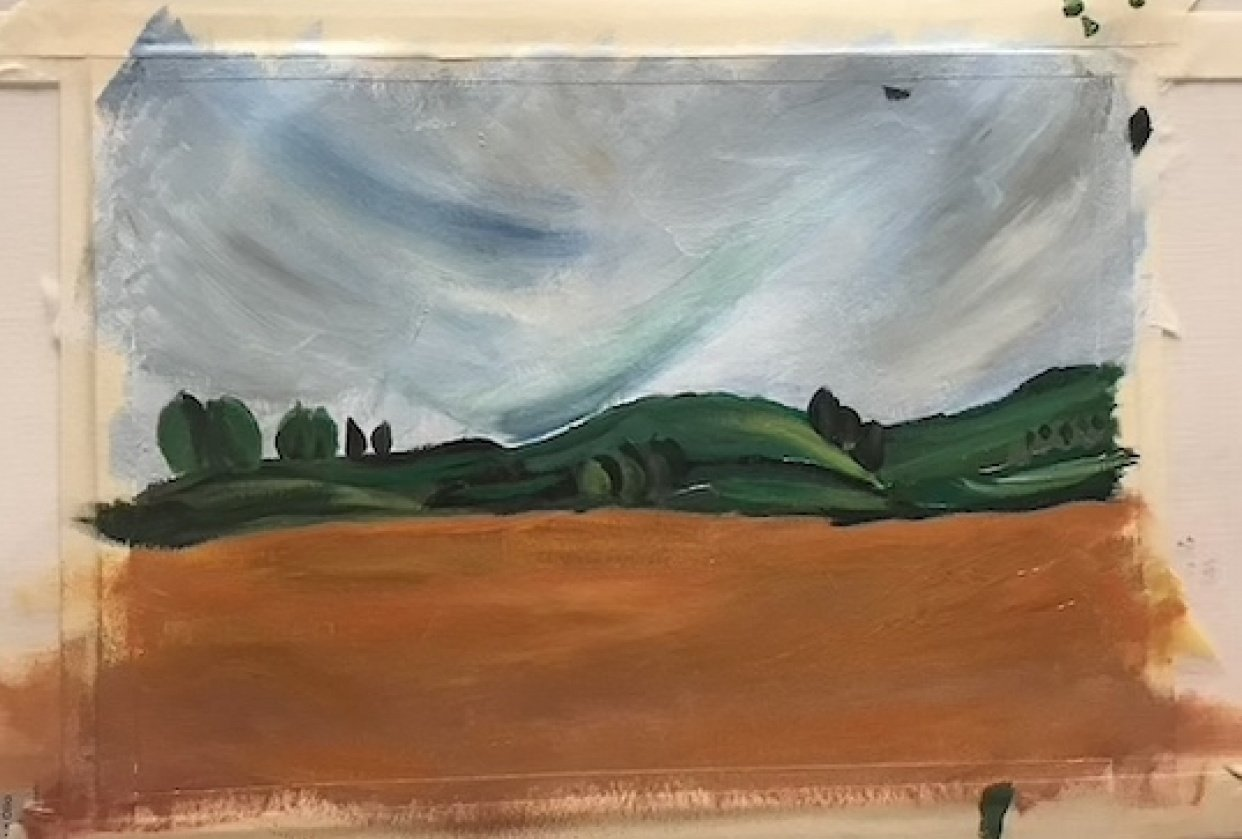 abstract landscape - student project