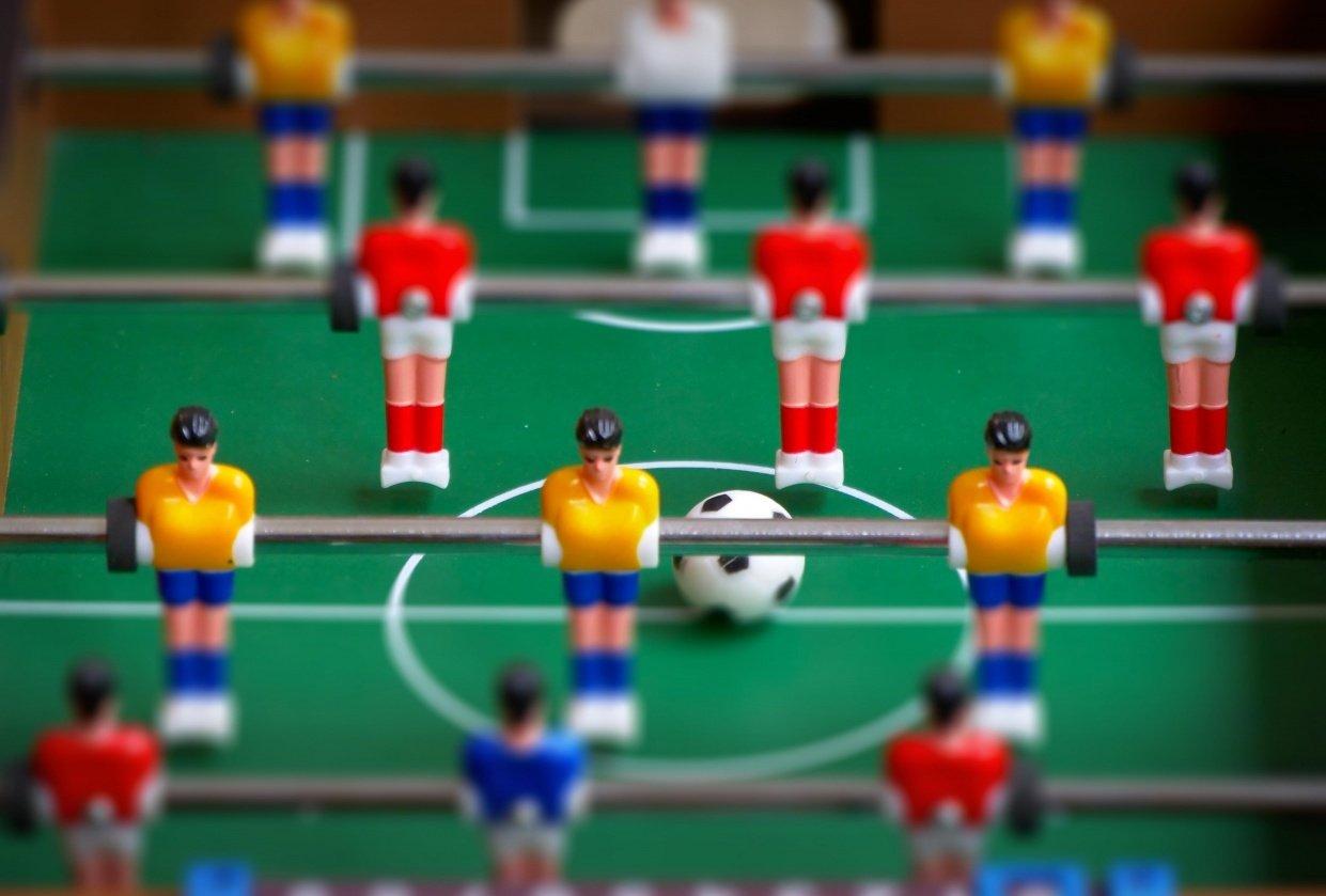 Table football tilt shift - student project