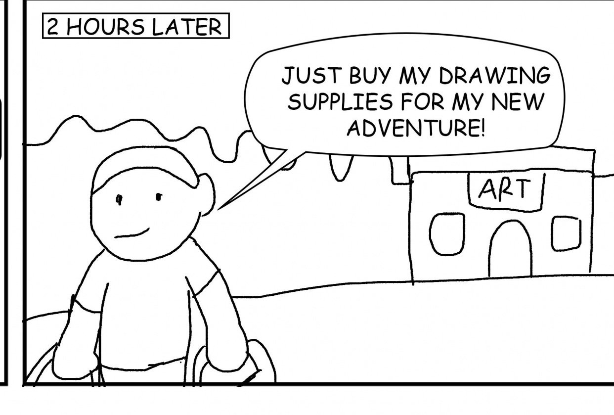 The day i start creating comics - student project