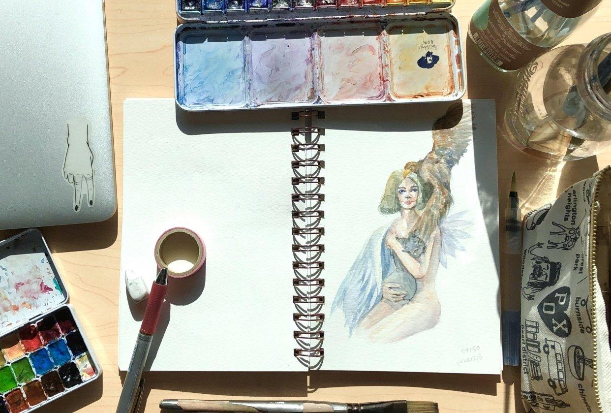 Portrait illustration - student project