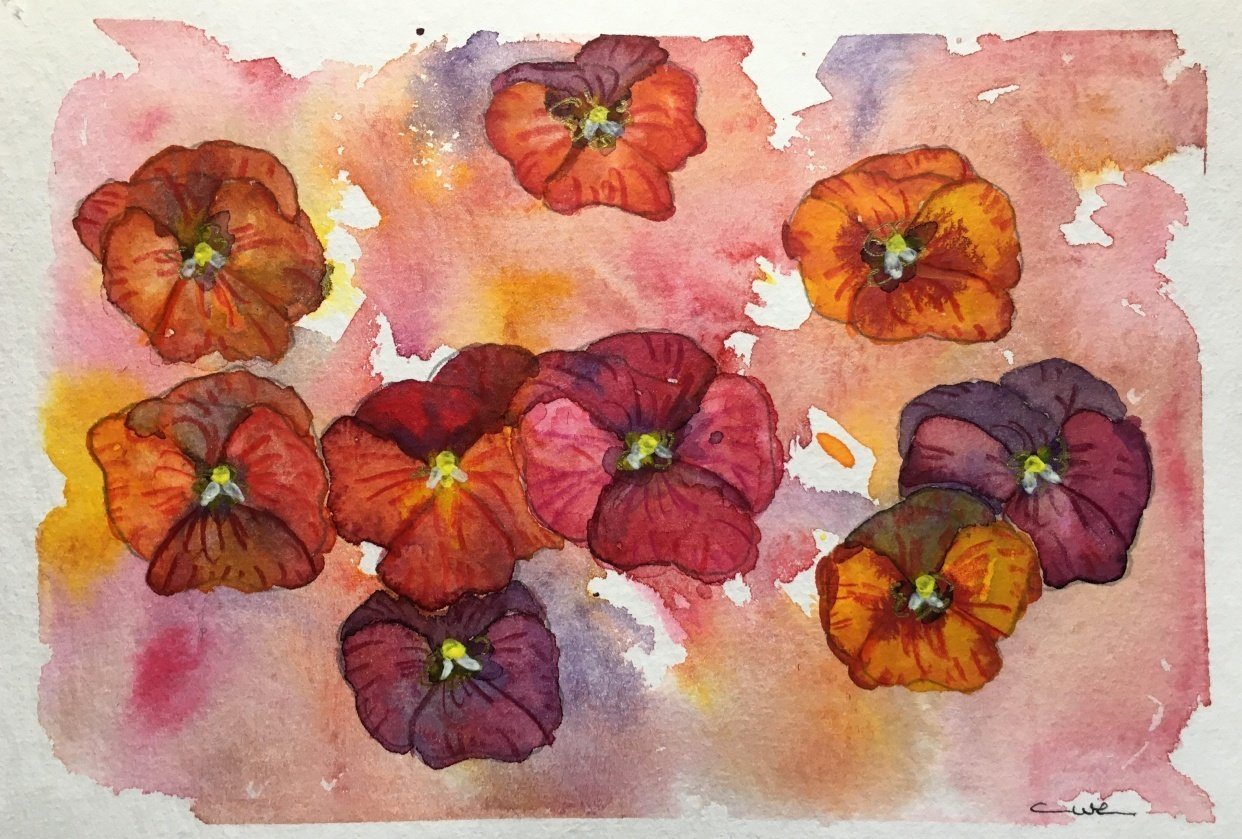 Vibrant Flowers - student project