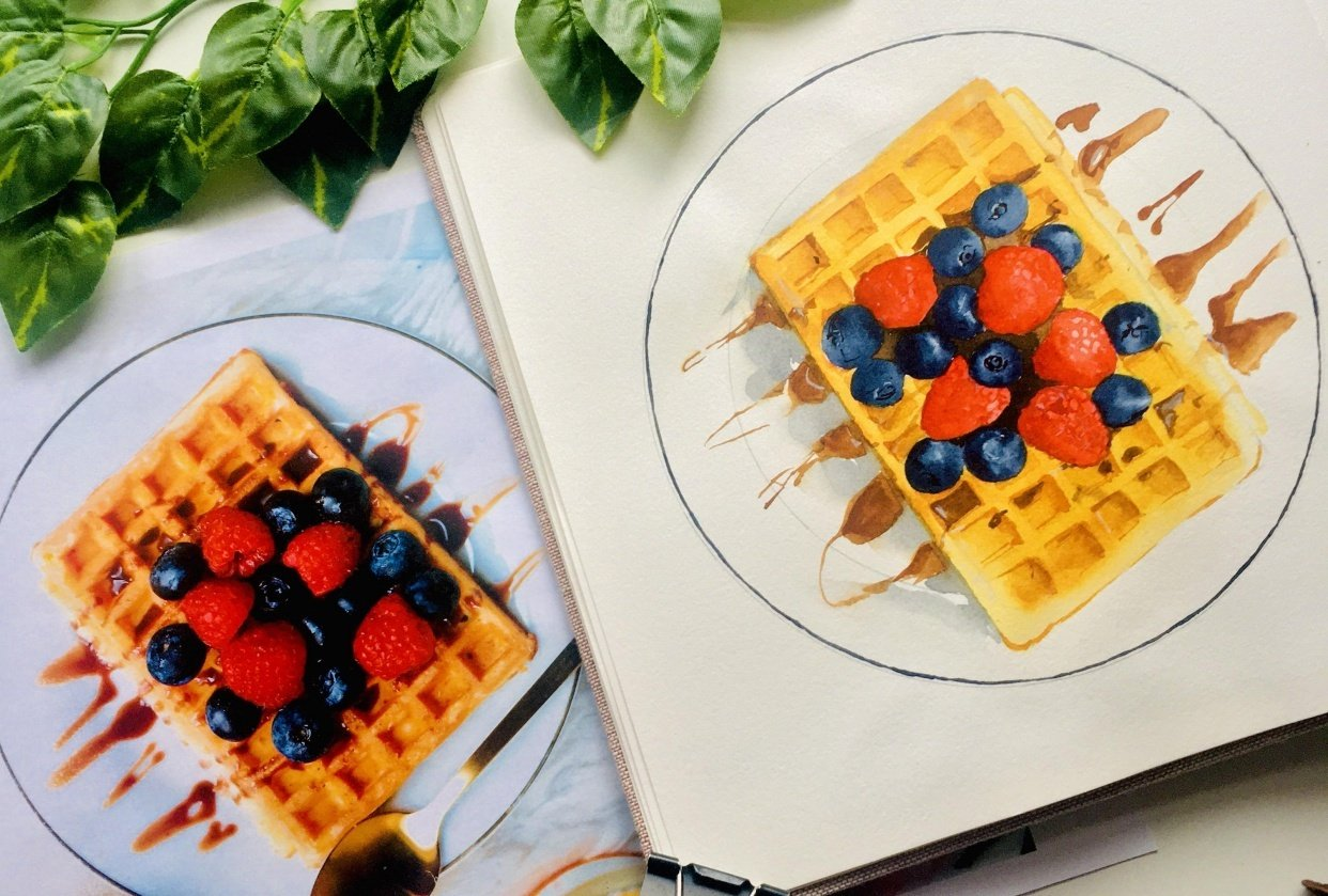 Food Illustration From Picture - student project