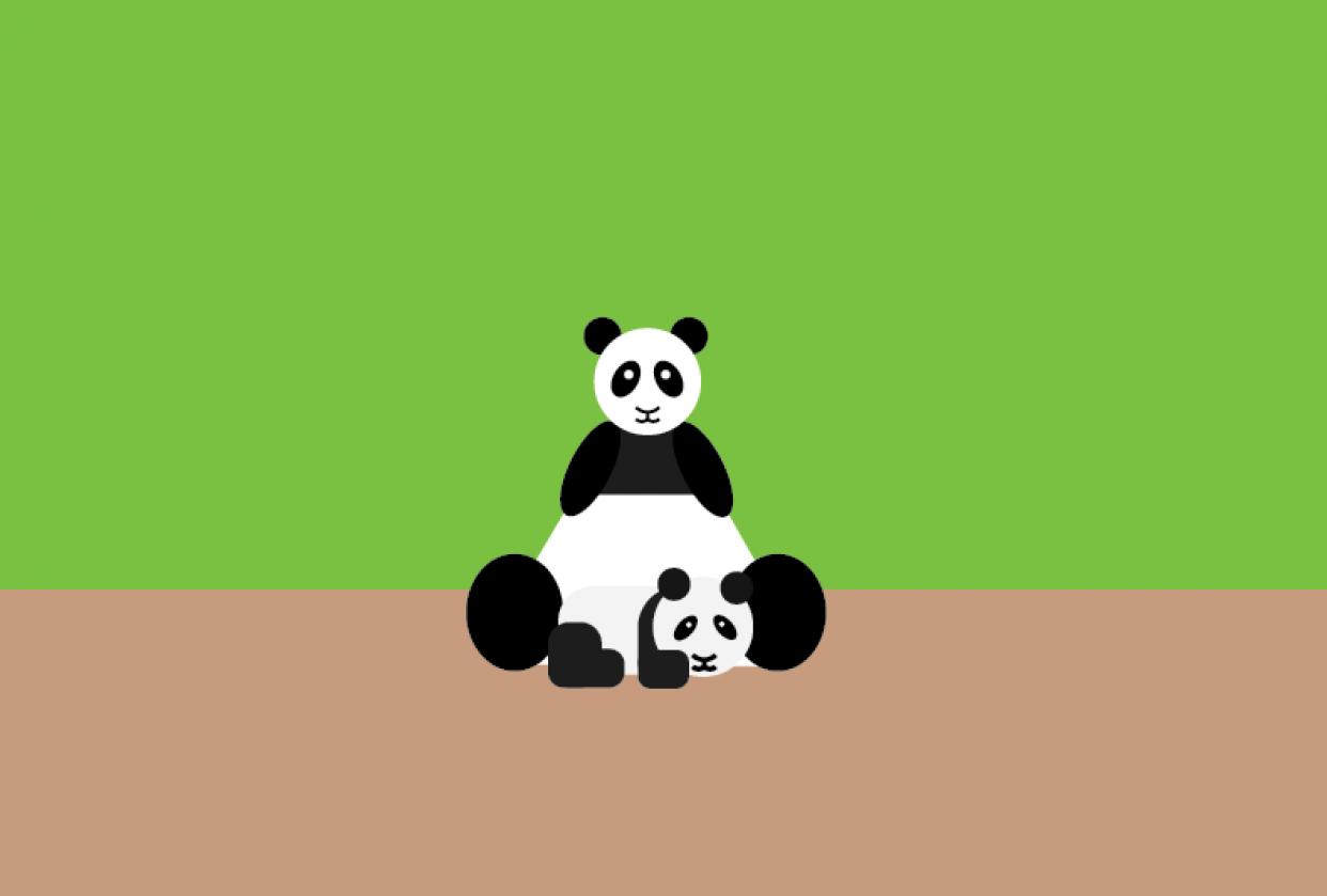 Panda Vector - student project