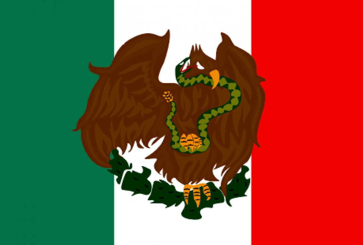Mexican Flag Logo - student project
