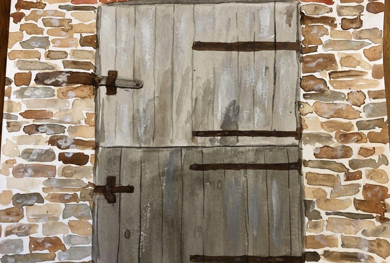 """Door """"pretest"""" - student project"""