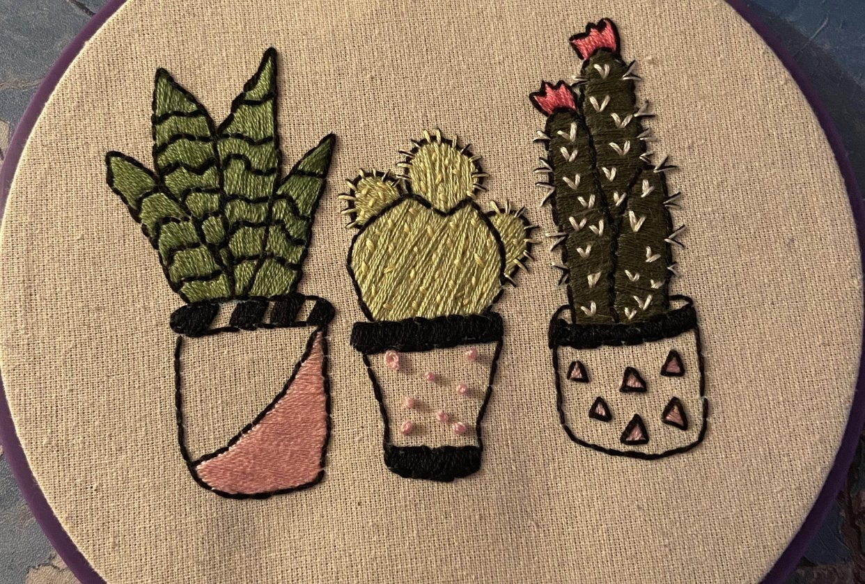 First Embroidery Project - student project