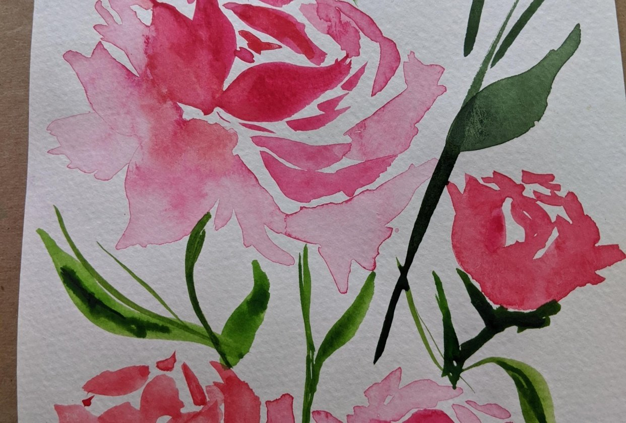 Pink florals - student project