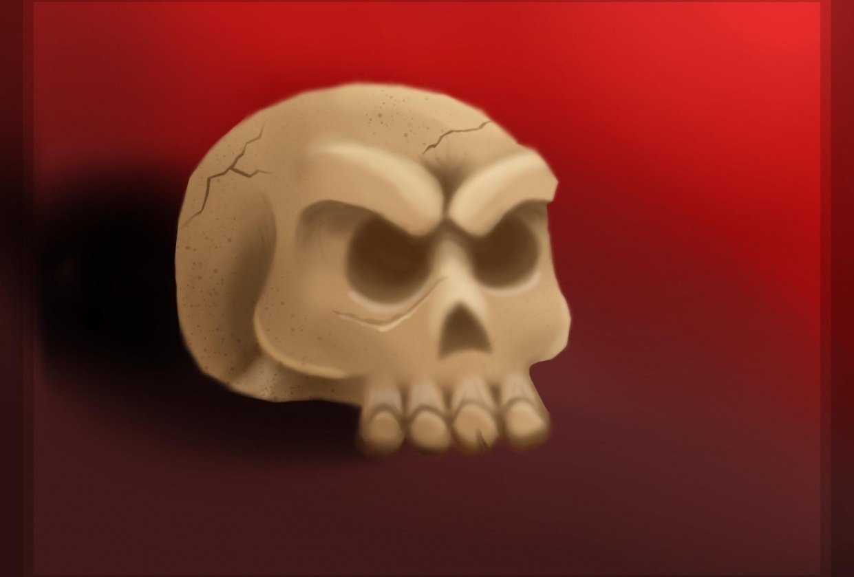 skull and tree - student project