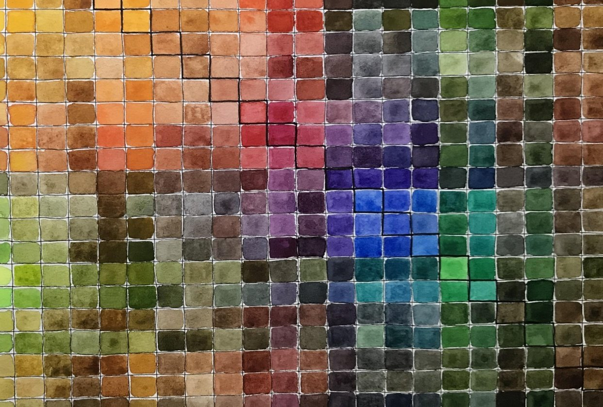 Watercolor Mixing Chart - student project