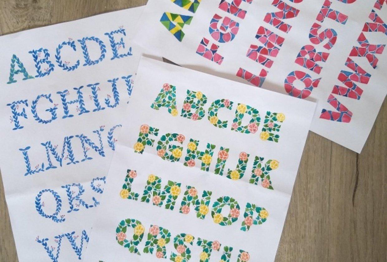 Watercolour Alphabets - student project