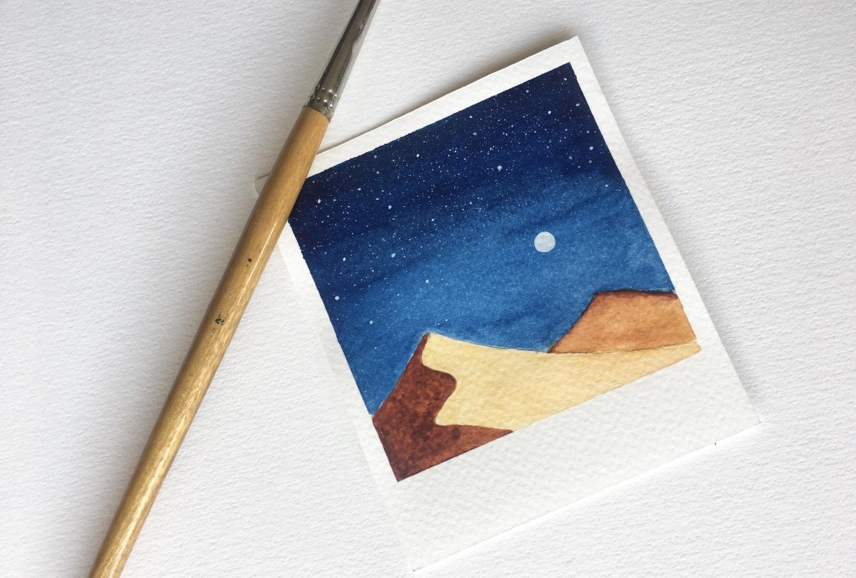 Fun and Easy Watercolour Galaxies - student project