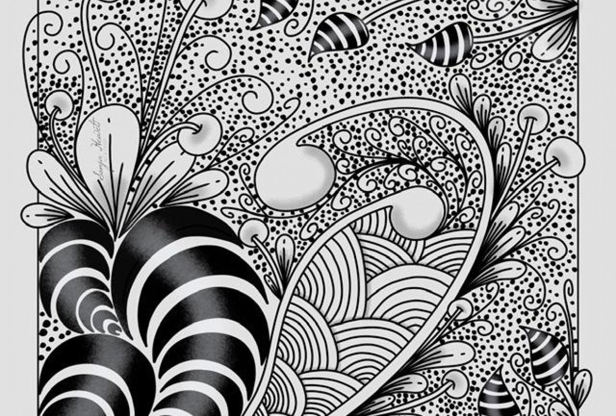 My first Zentangle - student project